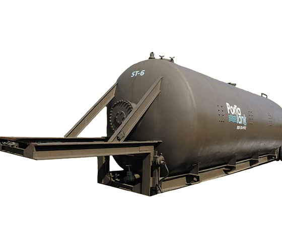 Vacuum Rated Mobile Storage Tank